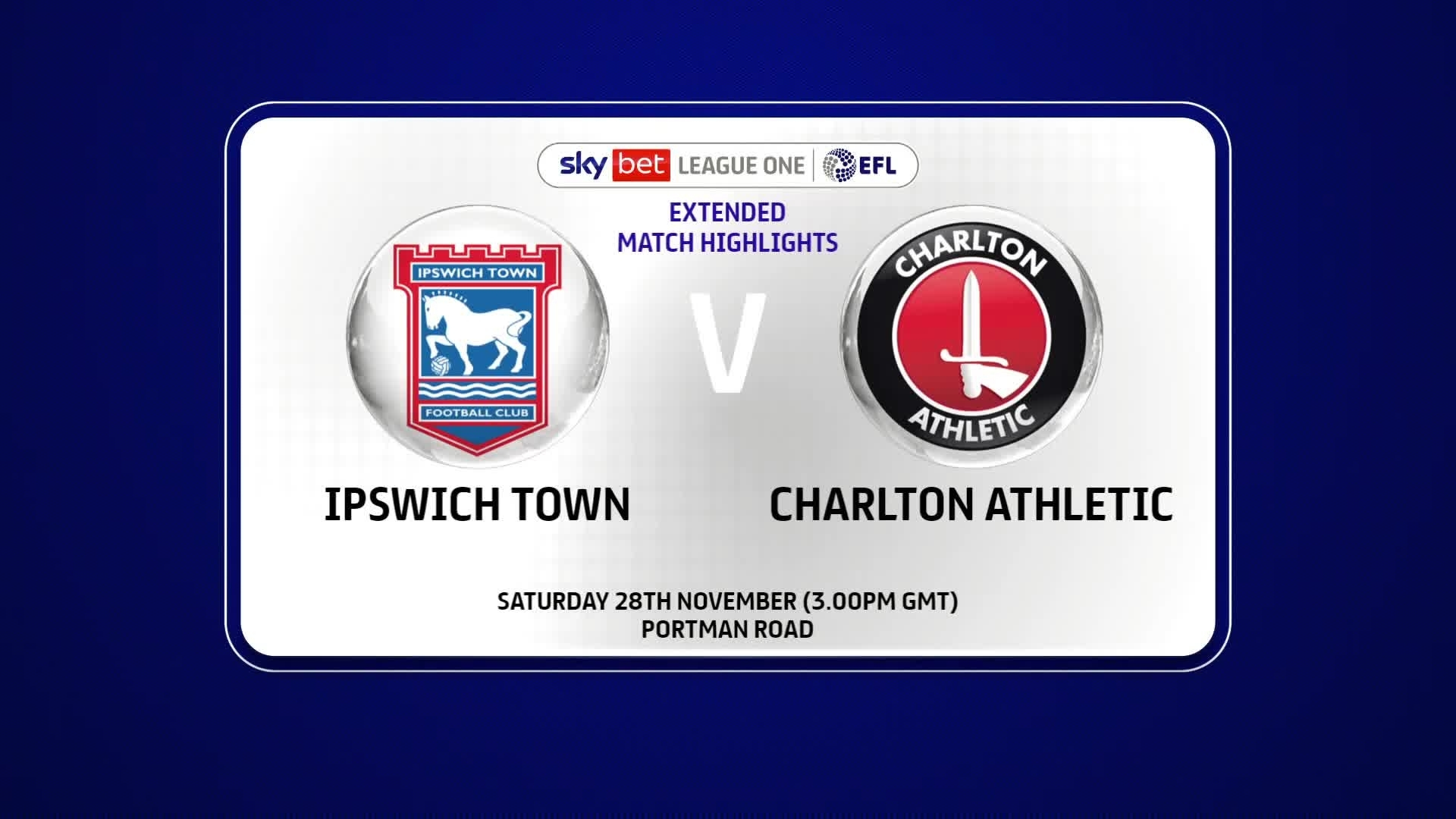 EXTENDED HIGHLIGHTS | Ipswich Town 0 Charlton 2 (November 2020)