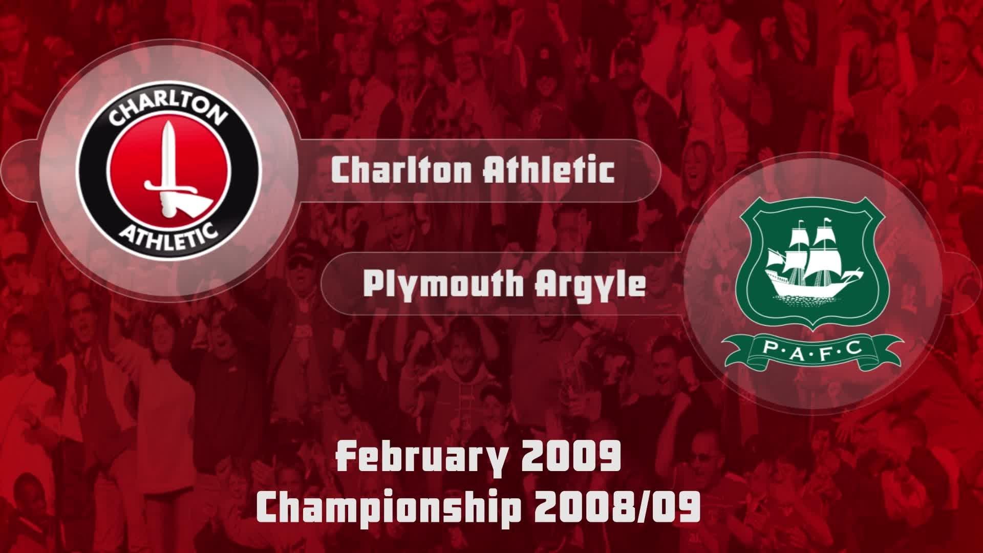 36 HIGHLIGHTS | Charlton 2 Plymouth 0 (Feb 2009)