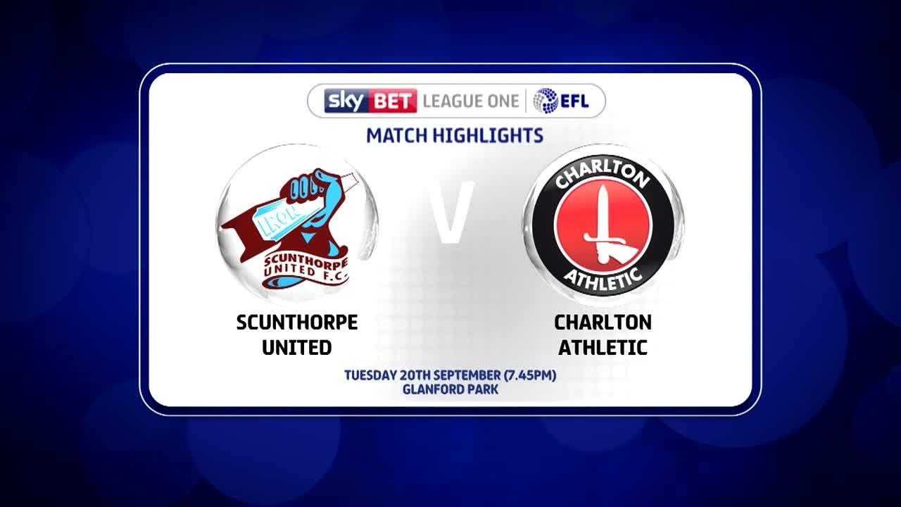 10 HIGHLIGHTS | Scunthorpe 0 Charlton 0 (Sept 2016)