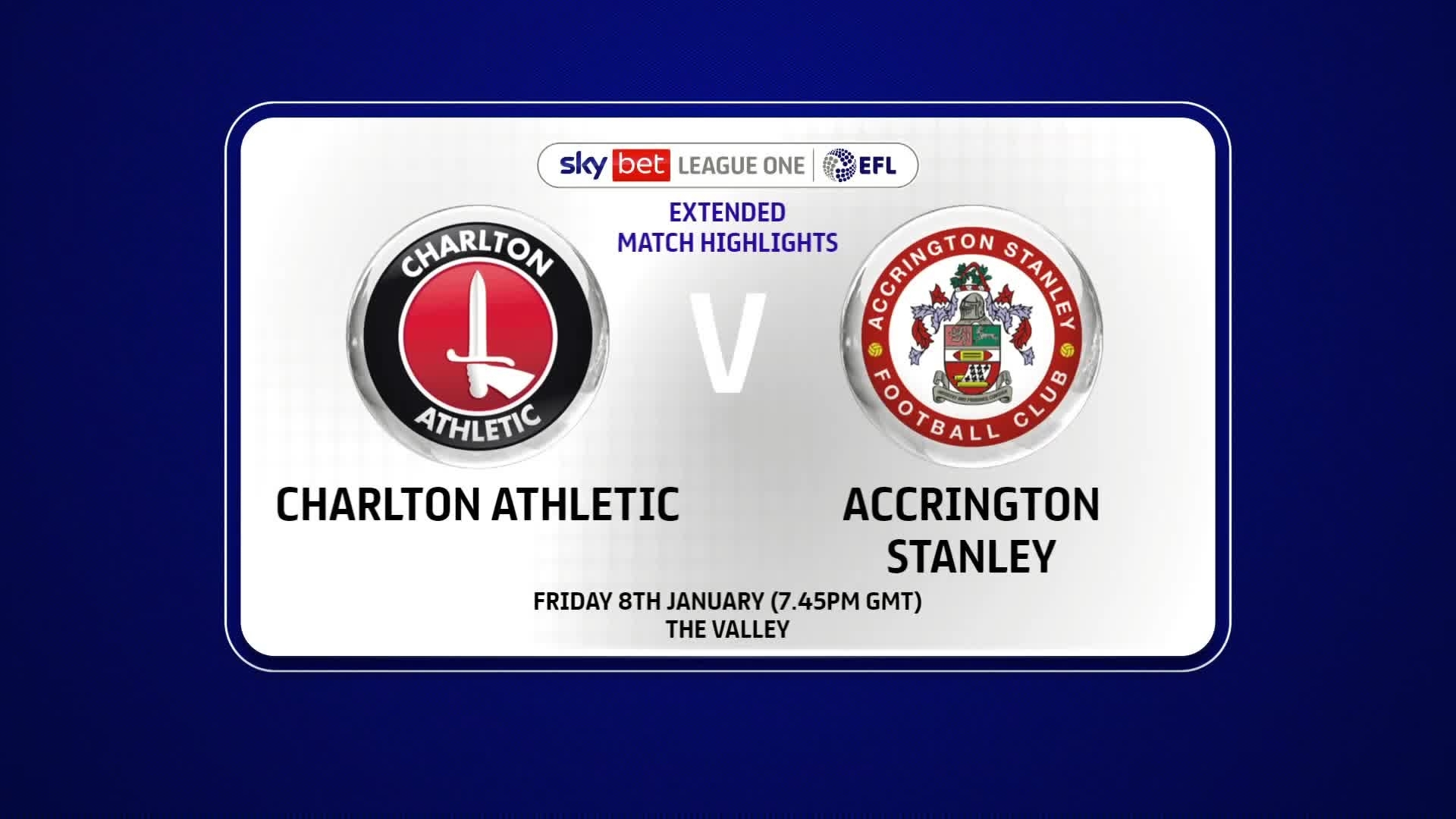 EXTENDED HIGHLIGHTS | Charlton 0 Accrington Stanley 2 (January 2021)