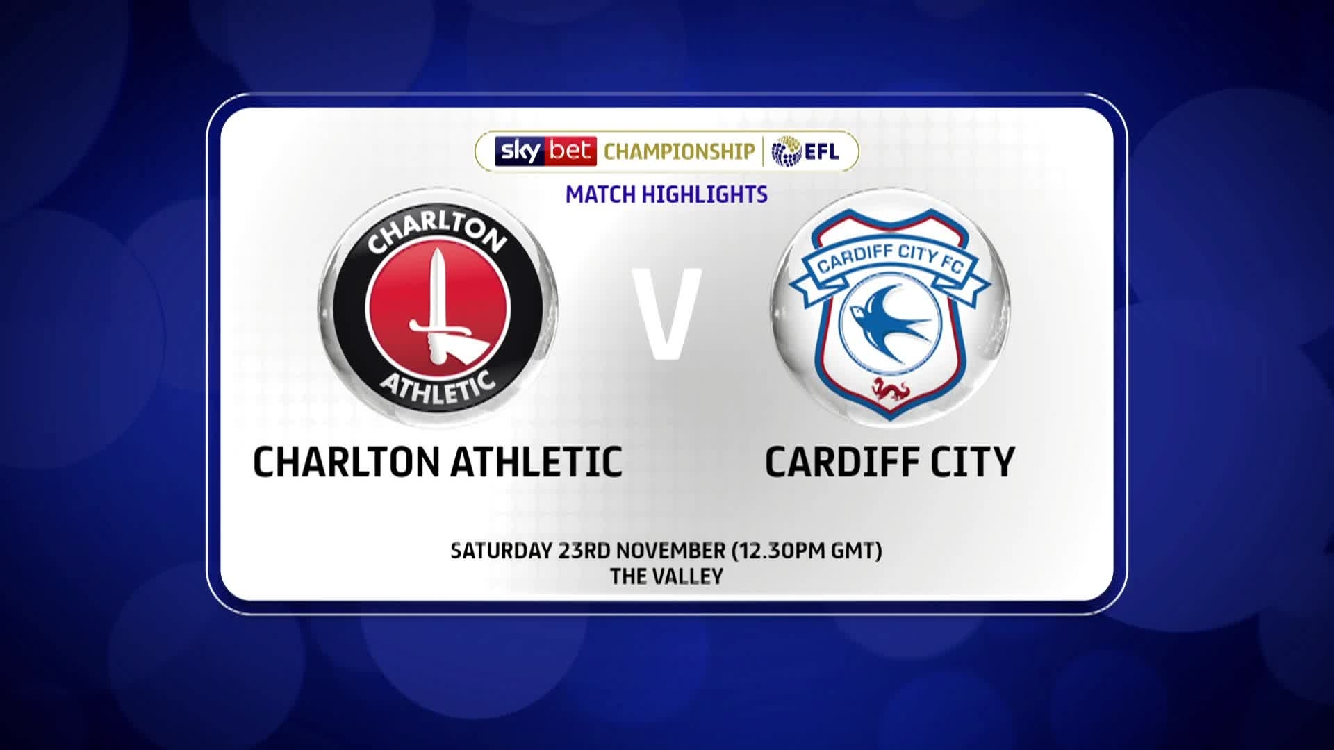 GOALS | Charlton 2 Cardiff City 2 (November 2019)