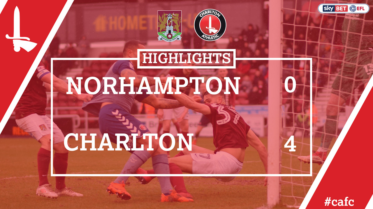 47 HIGHLIGHTS | Northampton 0 Charlton 4 (Mar 2018)