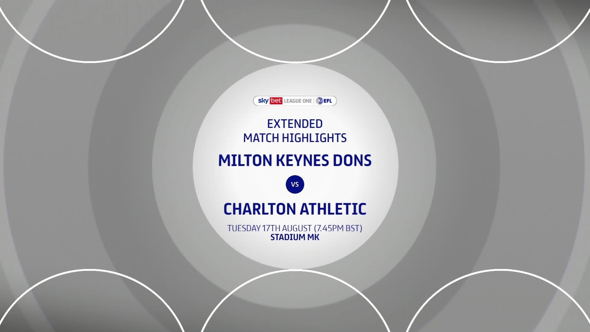 HIGHLIGHTS | MK Dons 2 Charlton 1 (August 2021)