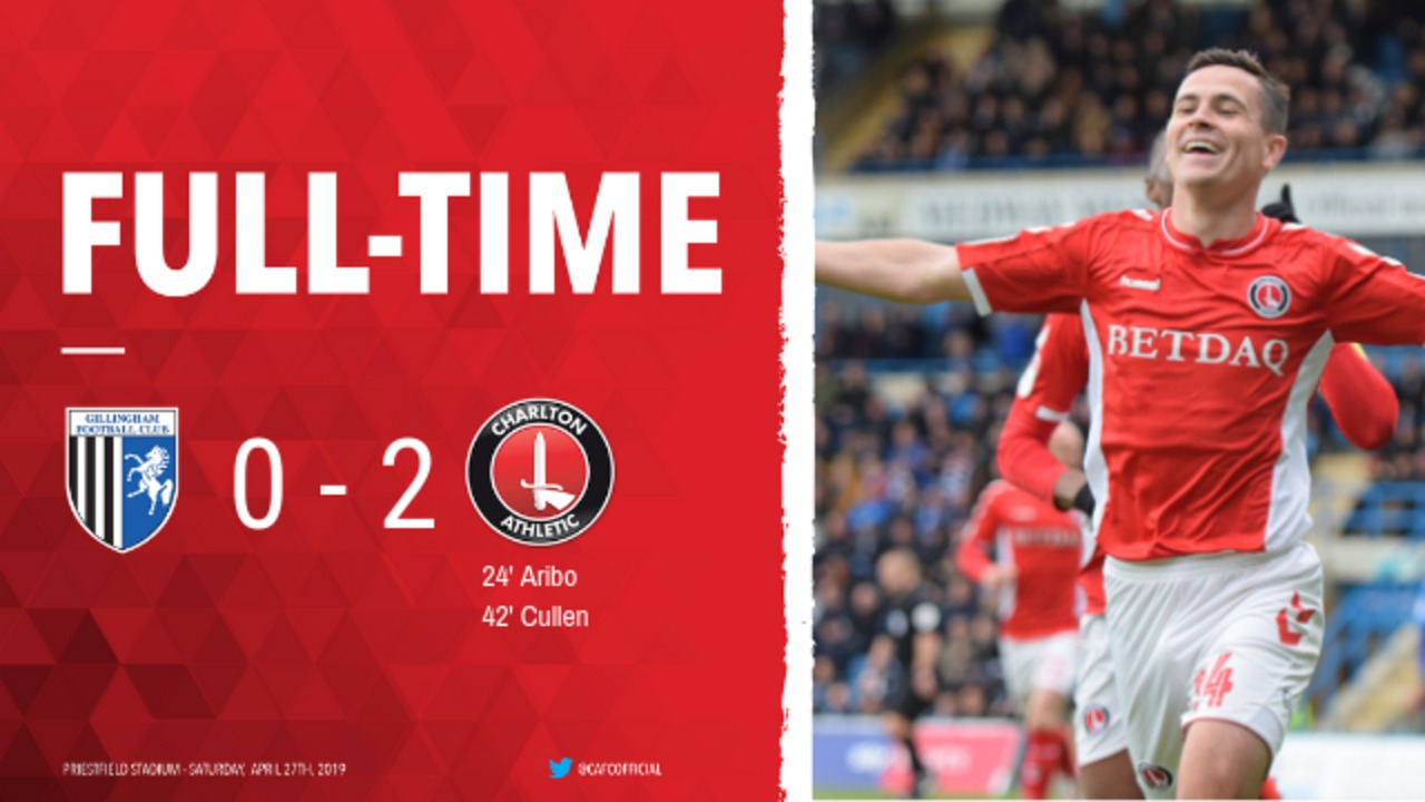 52 HIGHLIGHTS | Gillingham 0 Charlton 2 (April 2019)