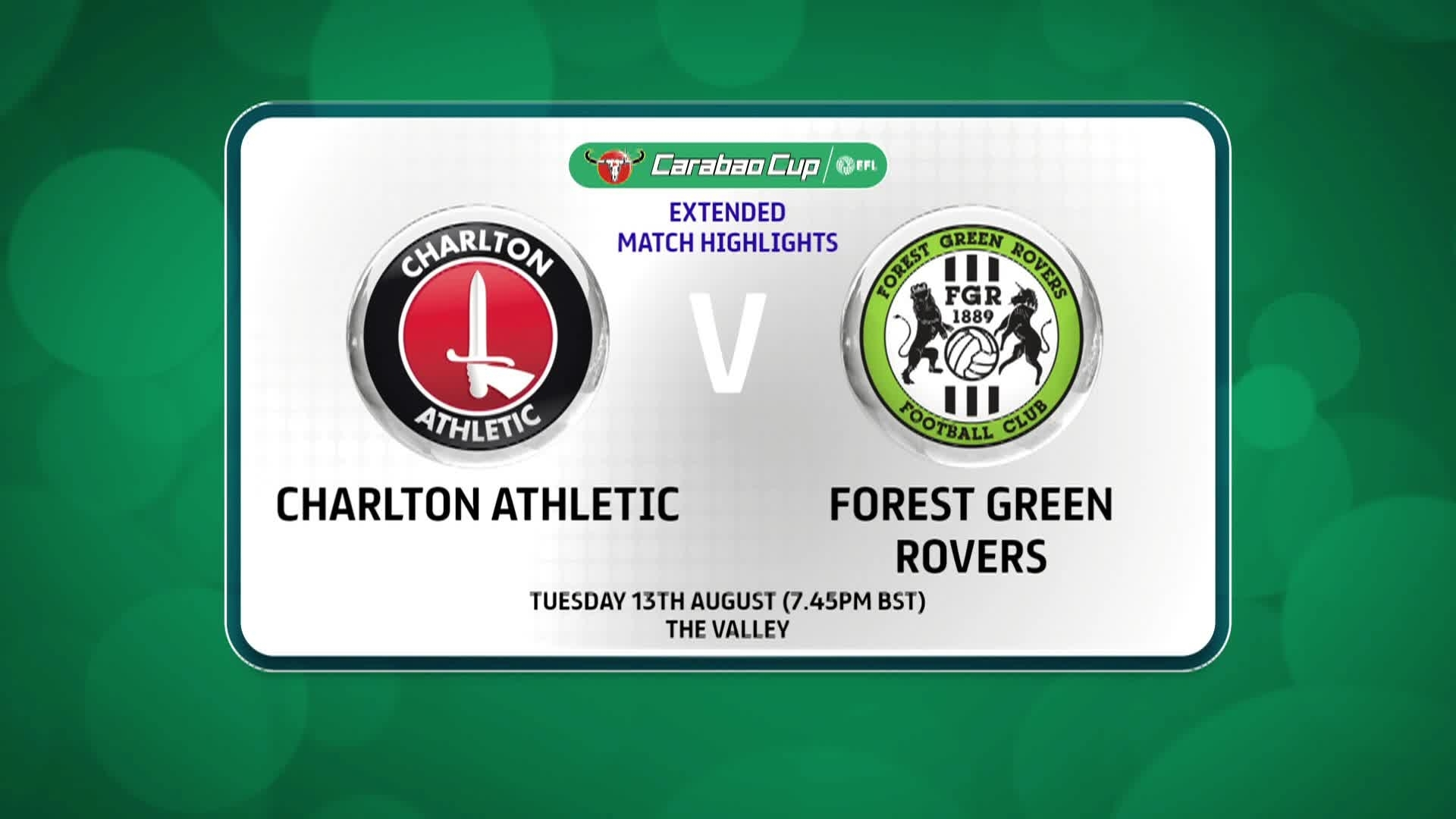 3 HIGHLIGHTS | Charlton 0 Forest Green Rovers 0 (August 2019)