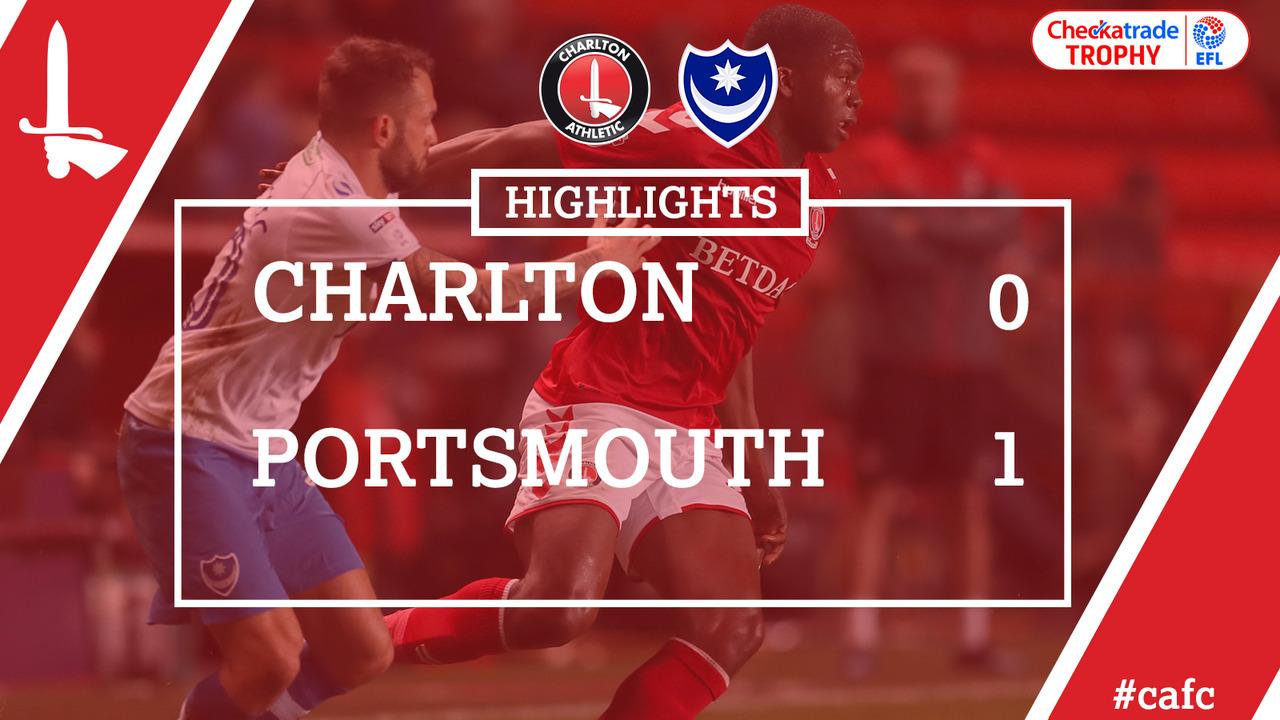 21 HIGHLIGHTS   Charlton 0 Portsmouth 1 (EFL Trophy Nov 2017)