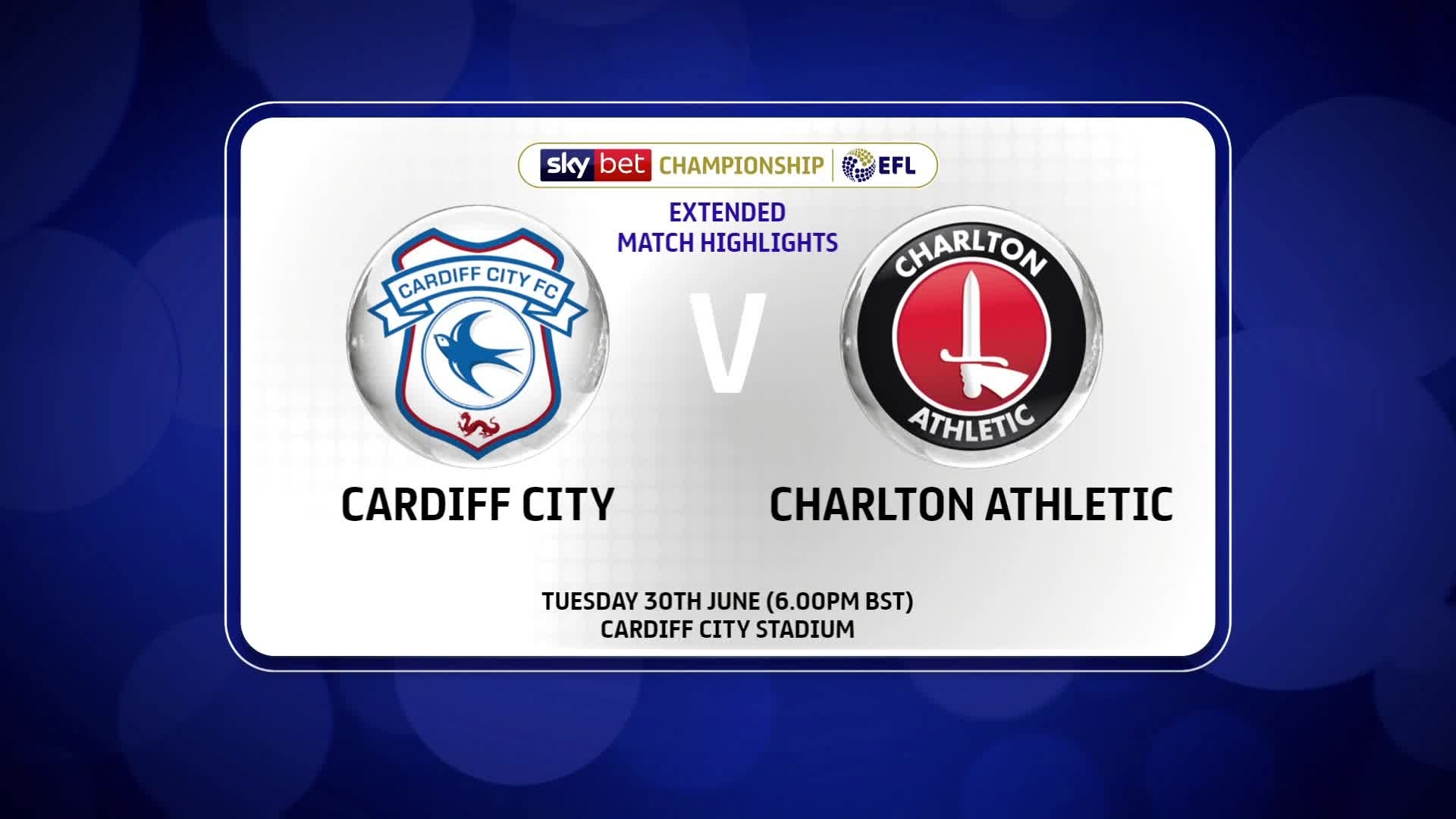 EXTENDED HIGHLIGHTS | Cardiff 0 Charlton 0 (June 2020)