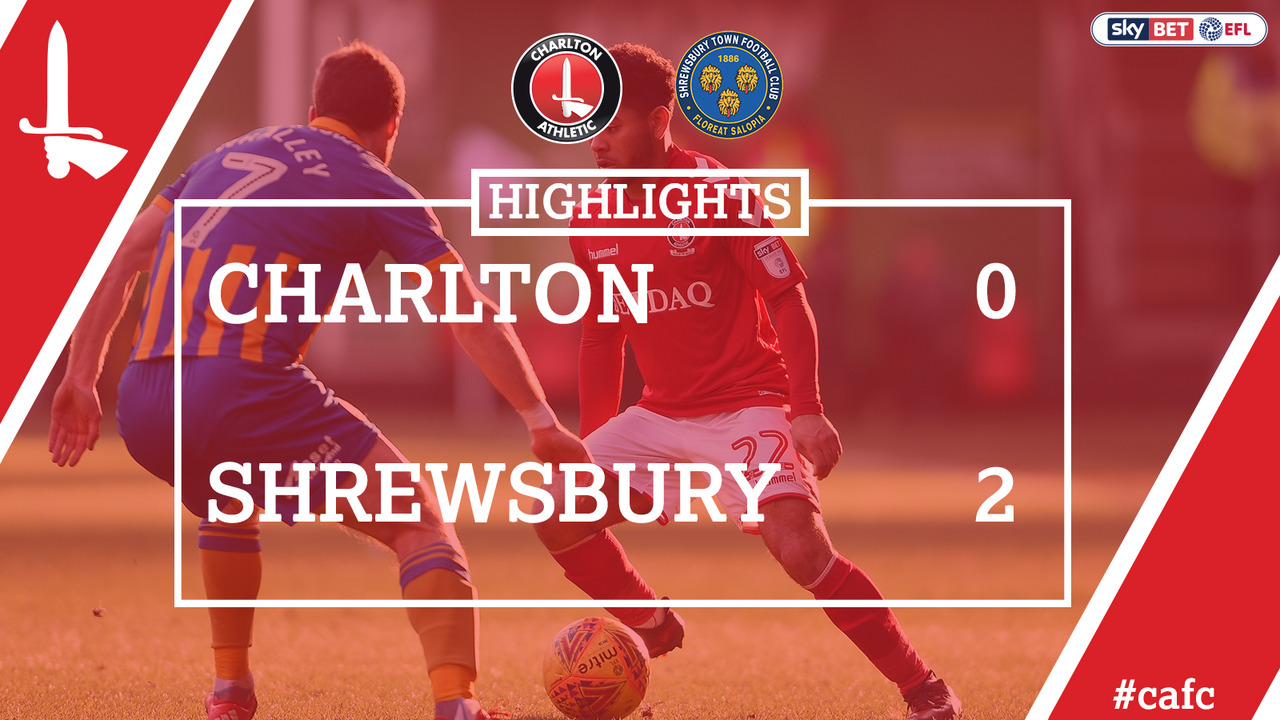 42 HIGHLIGHTS | Charlton 0 Shrewsbury 2 (Feb 2018)
