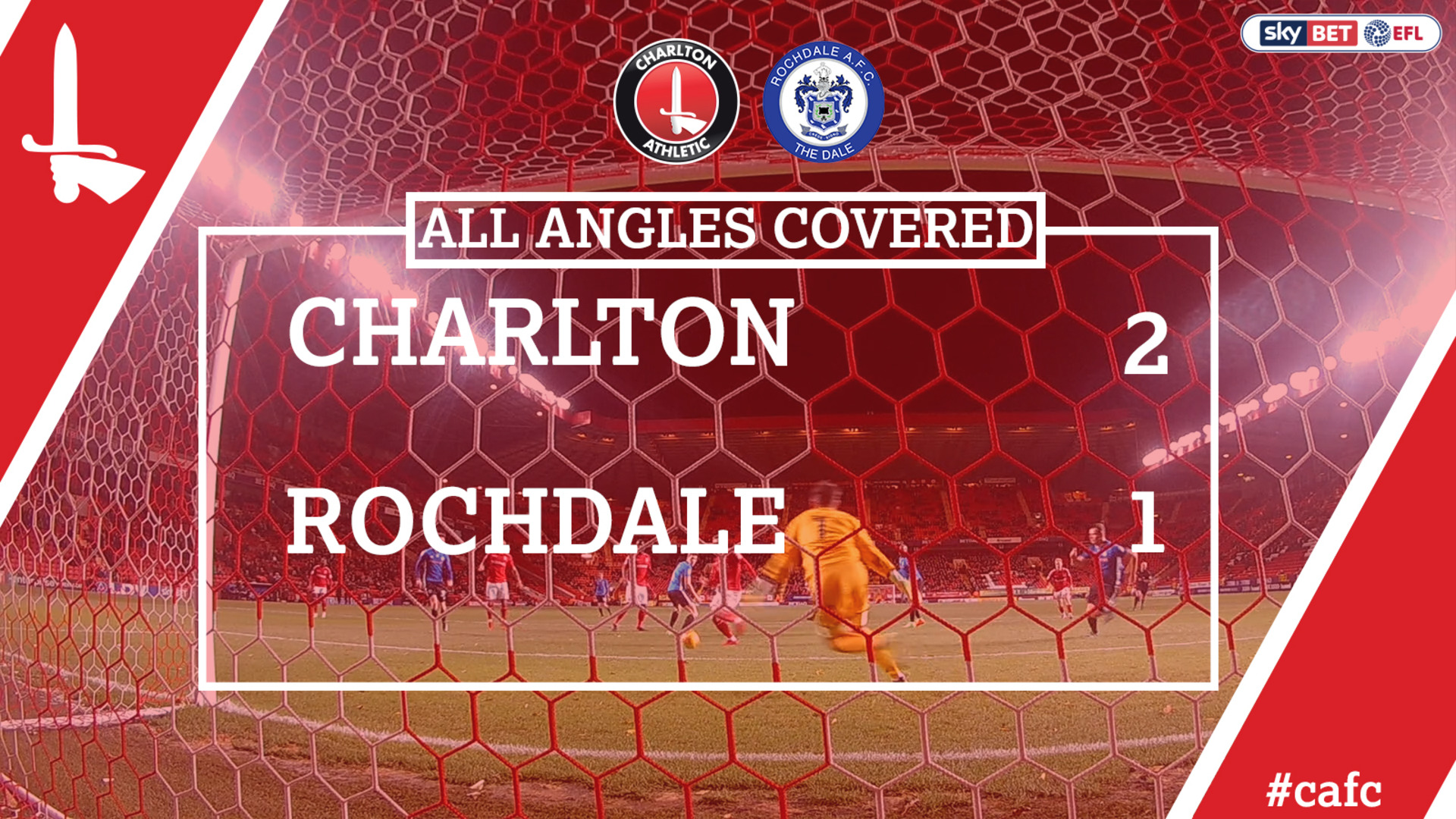 ALL ANGLES COVERED | Charlton 2 Rochdale 1
