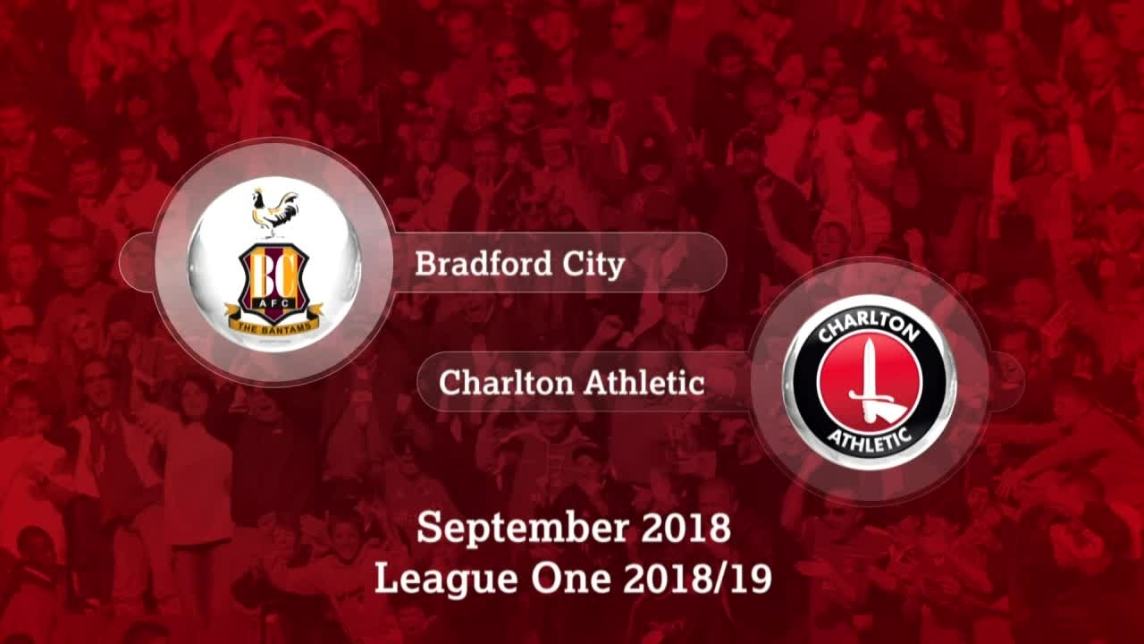 GOALS | Bradford City 0 Charlton 2 (September 2018)