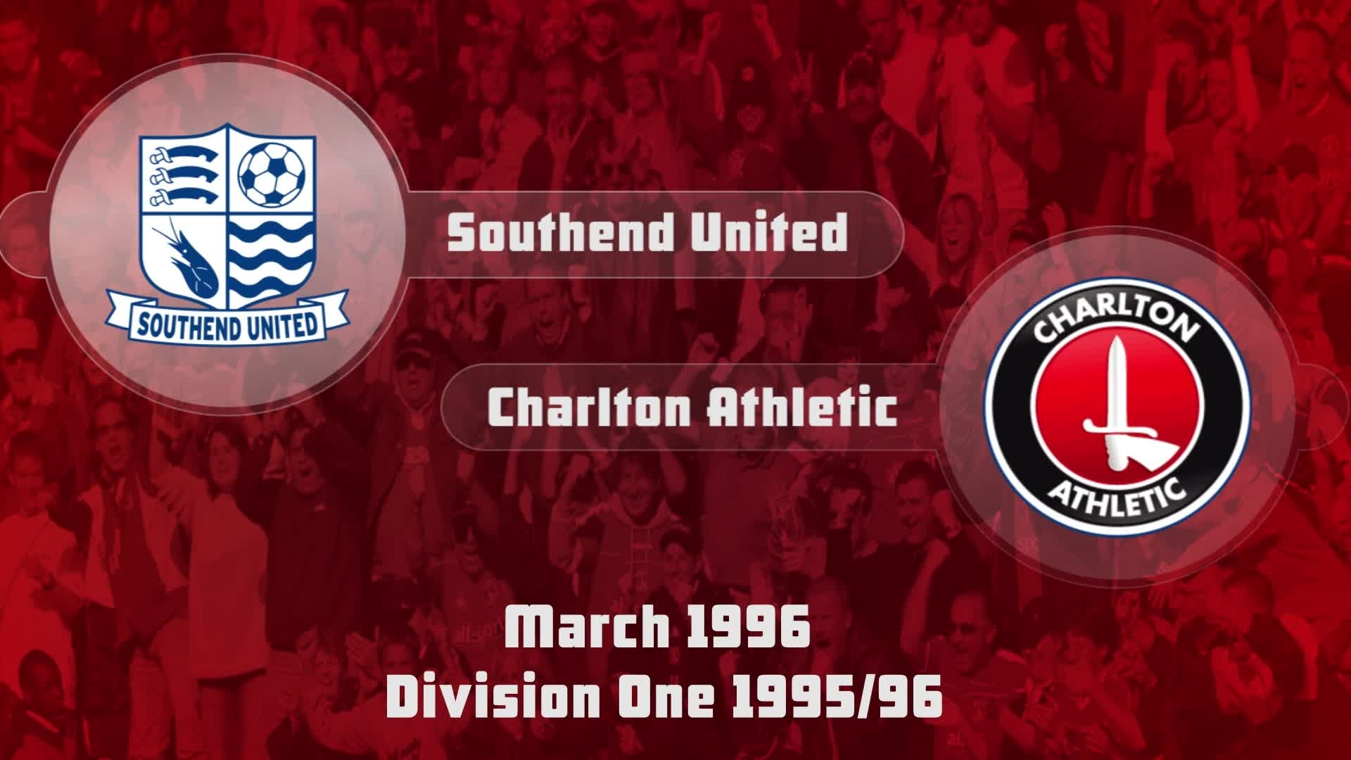 44 HIGHLIGHTS | Southend United 1 Charlton 1 (March 1996)