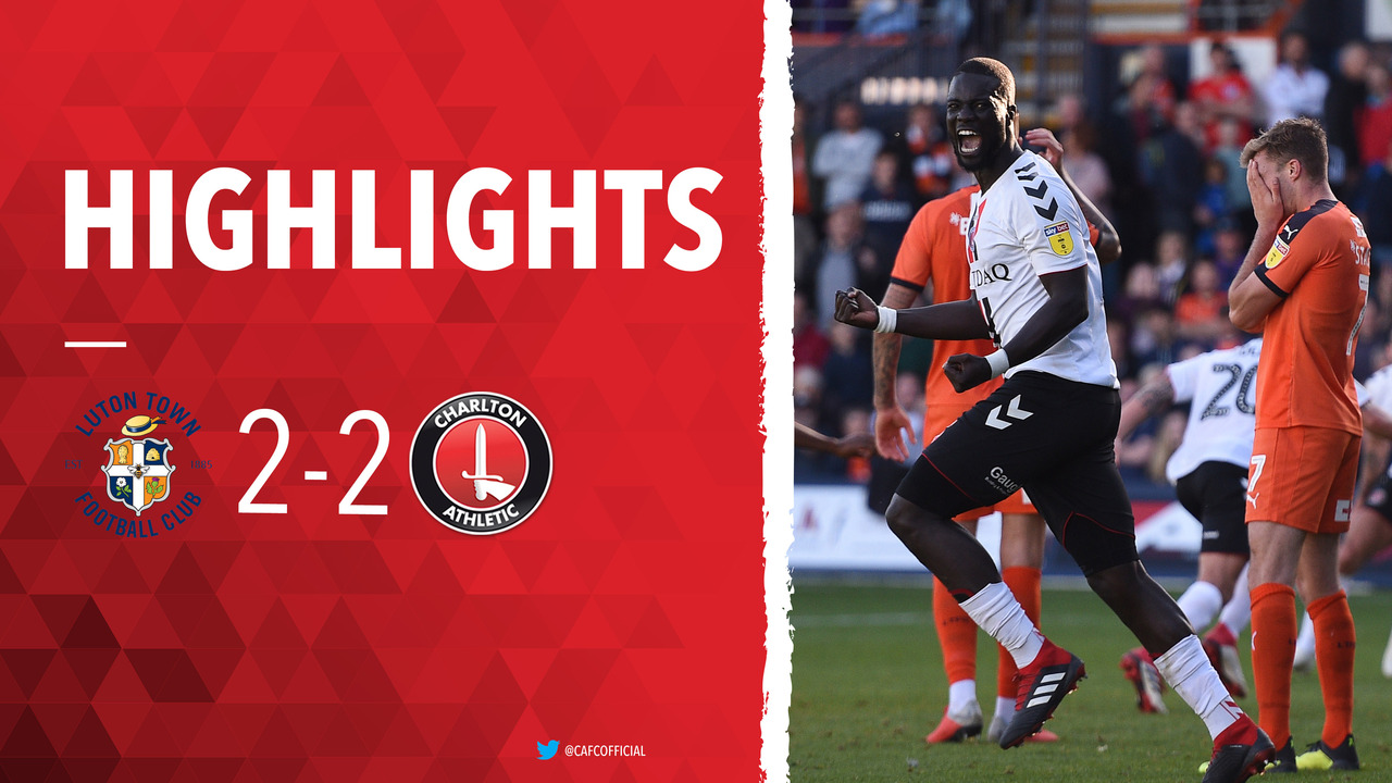 12 HIGHLIGHTS | Luton Town 2 Charlton 2 (September 2018)