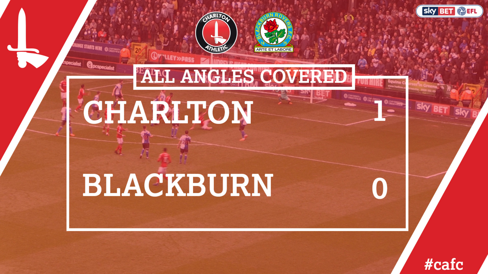 ALL ANGLES COVERED | Charlton 1 Blackburn 0 (April 2018)