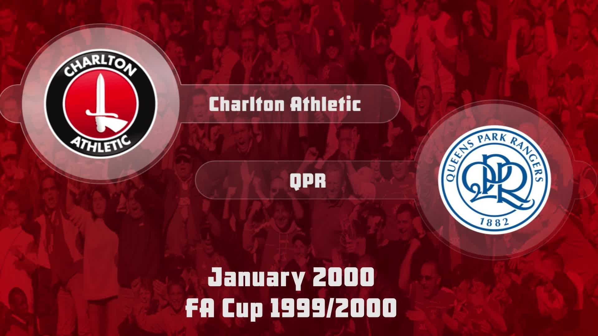 29 HIGHLIGHTS | Charlton 1 QPR 0  (FA Cup Jan 2000)