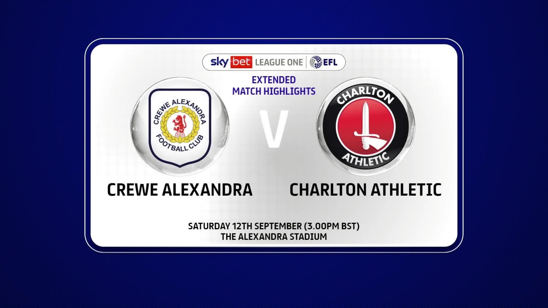 EXTENDED HIGHLIGHTS | Crewe 0 Charlton 2 (September 2020)