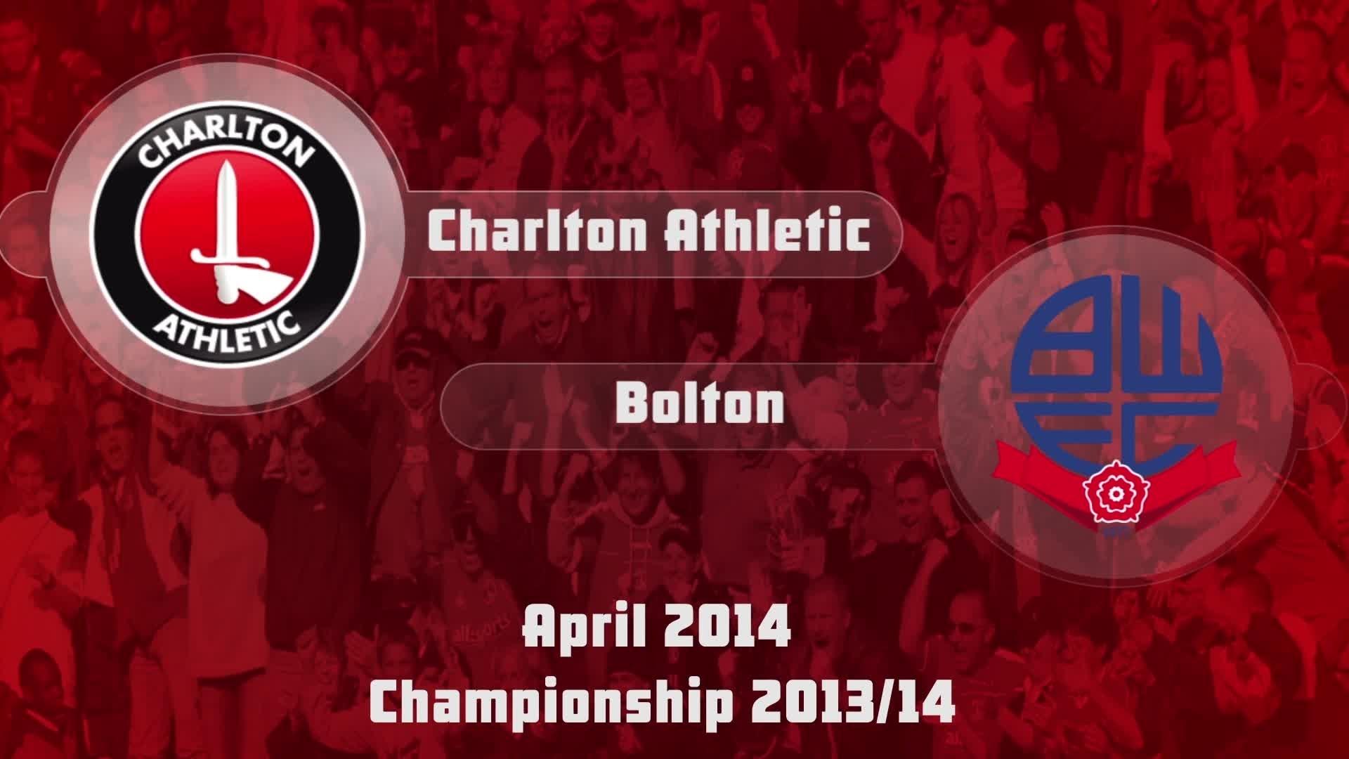 49 HIGHLIGHTS | Charlton 0 Bolton 0 ( April 2014)