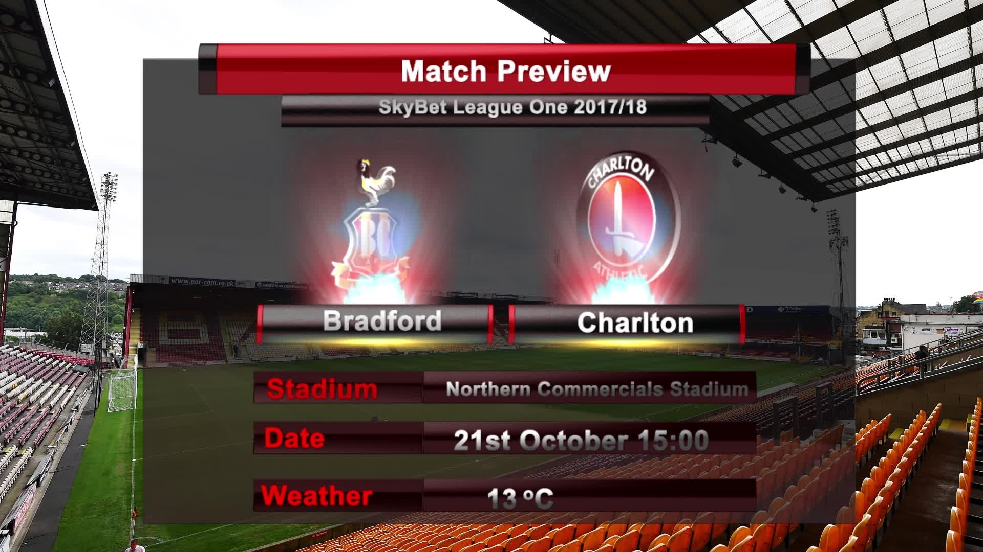 MATCH PREVIEW | Bradford vs Charlton