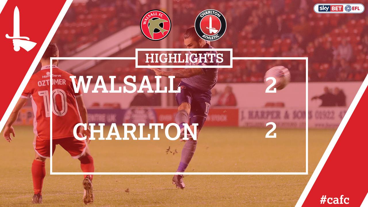 14 HIGHLIGHTS | Walsall 2 Charlton 2 (Sept 2017)