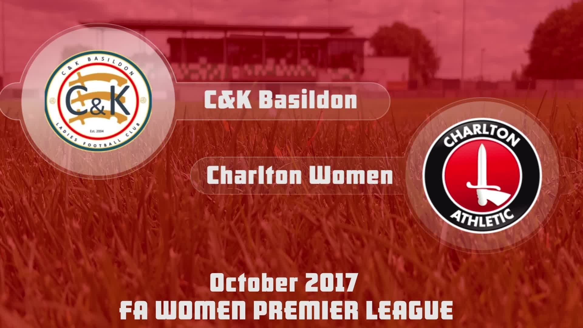 WOMEN HIGHLIGHTS | C&K Basildon 2 Charlton 1 (Oct 2017)