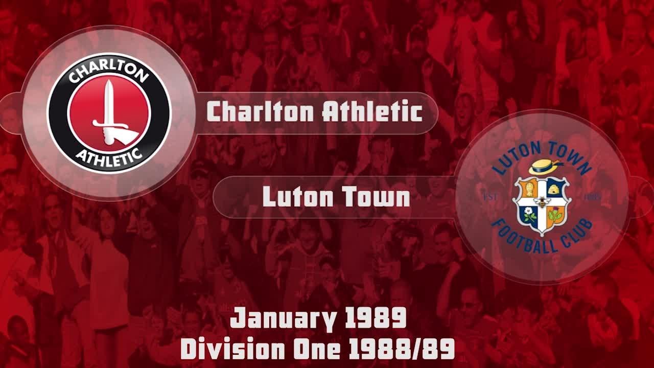 26 HIGHLIGHTS | Charlton 3 Luton Town 0 (Jan 1989)