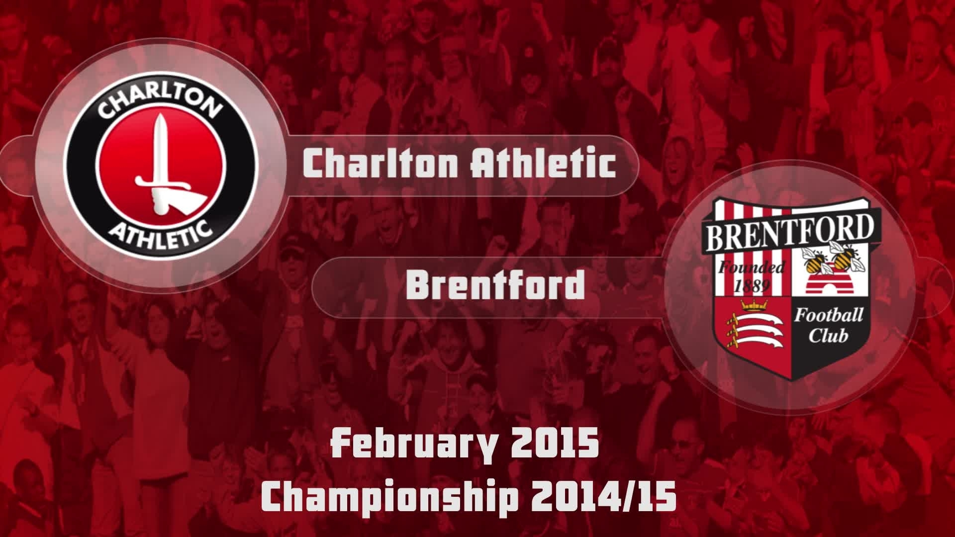 34 HIGHLIGHTS | Charlton 3 Brentford 0 (Feb 2015)