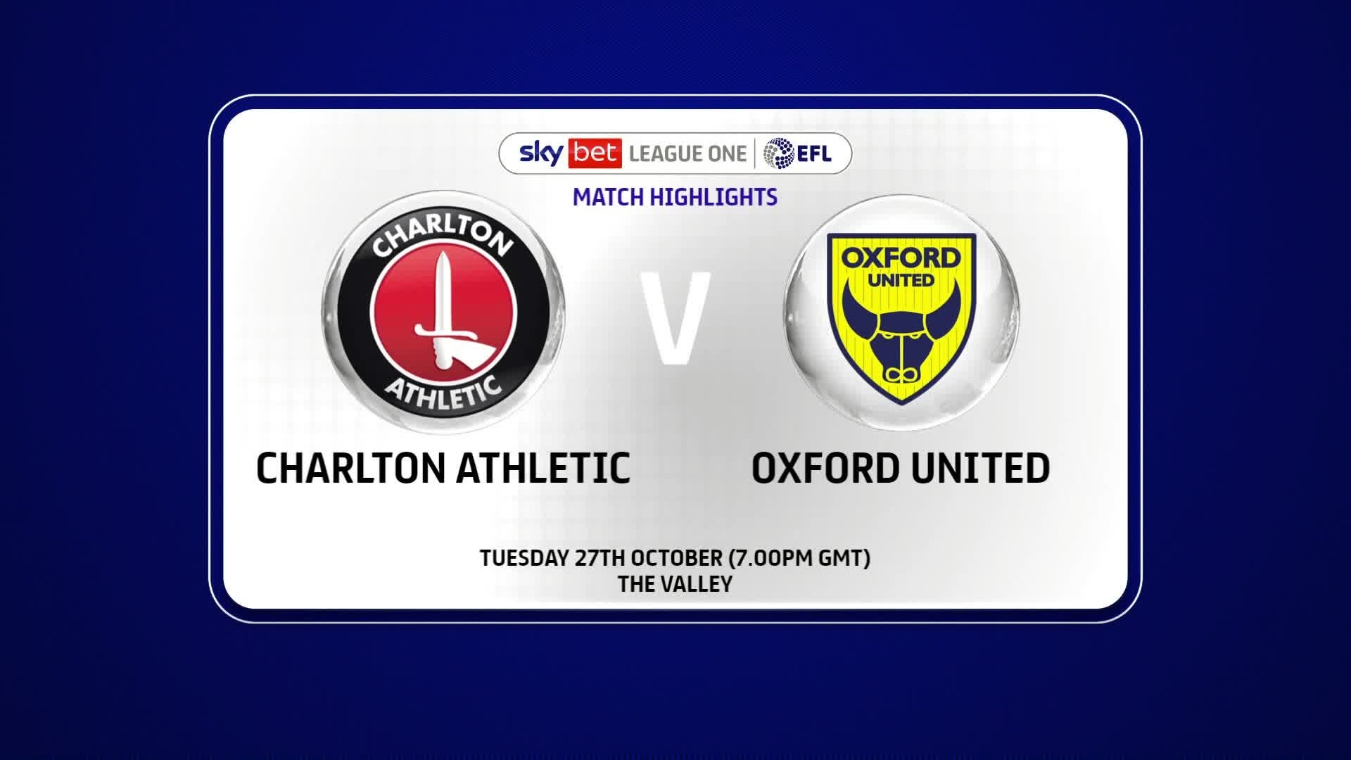 HIGHLIGHTS | Charlton 2 Oxford United 0 (October 2020)