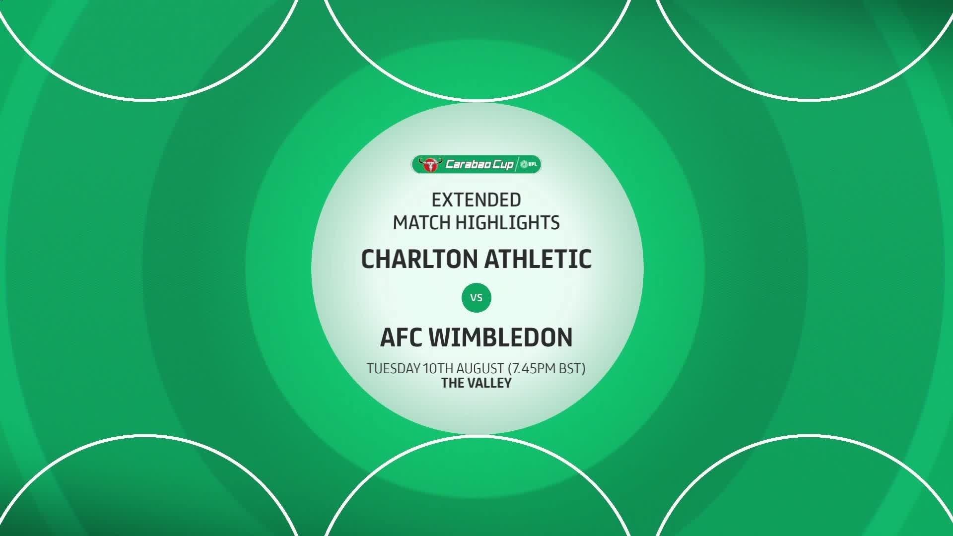 HIGHLIGHTS | Charlton 0 AFC Wimbledon 1 (August 2021)