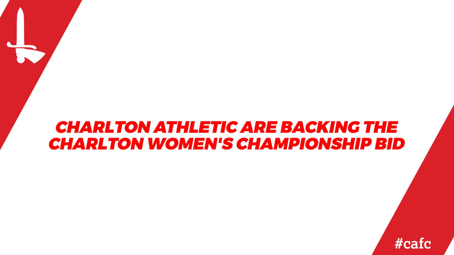 Charlton Women's Championship bid