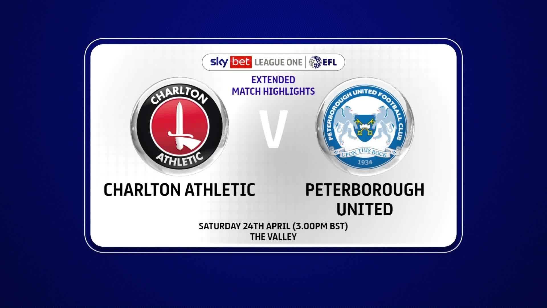 EXTENDED | Charlton 0 Peterborough United 1 (April 2021)