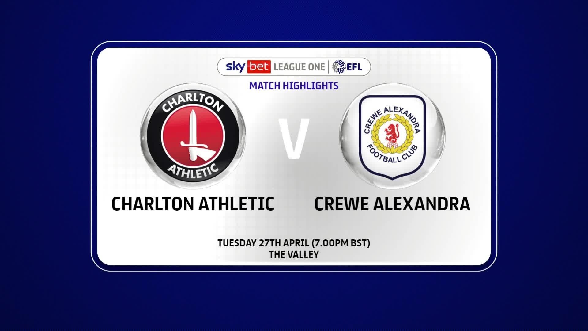HIGHLIGHTS | Charlton 2 Crewe 2 (April 2021)
