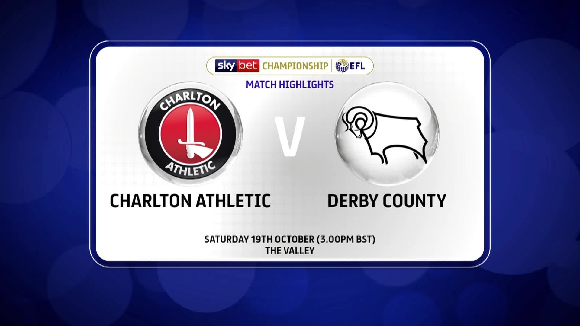 GOALS | Charlton 3 Derby 0 (October 2019)