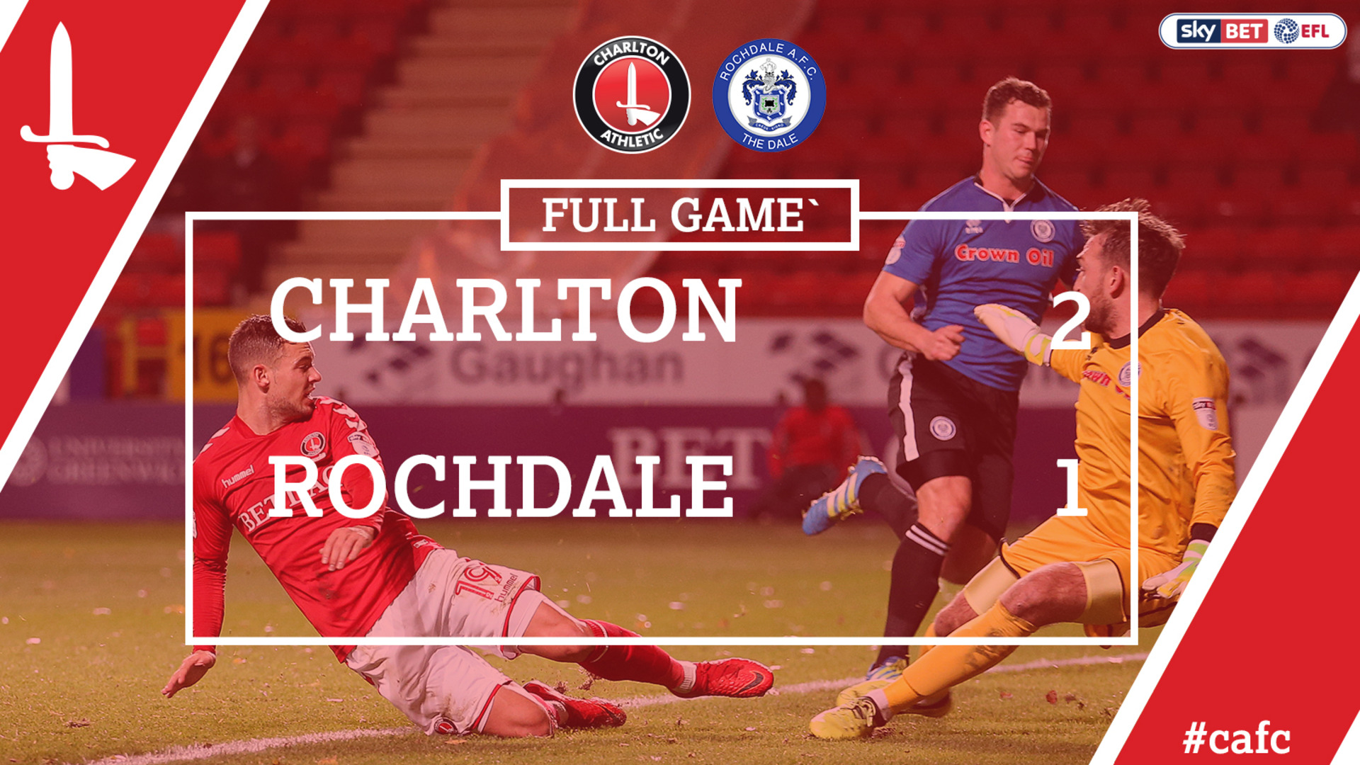FULL GAME | Charlton 2 Rochdale 1