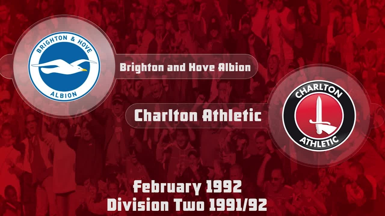 35 HIGHLIGHTS | Brighton & Hove 1 Charlton 2 (Feb 1992)