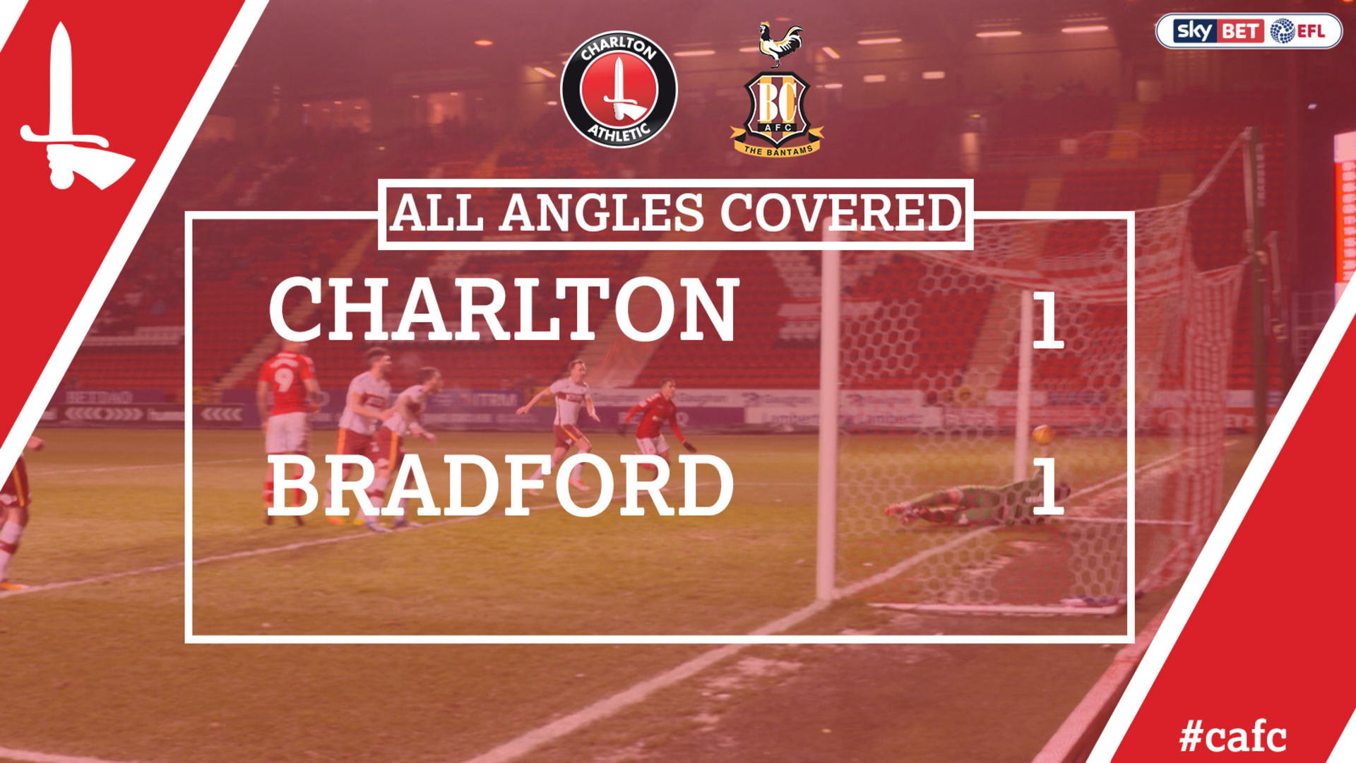 ALL ANGLES COVERED | Charlton 1 Bradford 1 (Feb 2018)