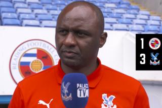 Patrick Vieira post-match interview | Reading