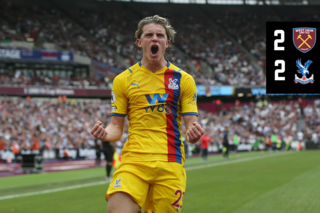 Match action: West Ham 2-2 Crystal Palace