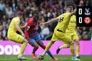 Match Action: Crystal Palace 0-0 Brentford