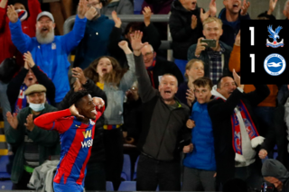 Match Action: Crystal Palace 1-1 Brighton