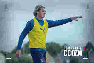 CCTV: Conor Gallagher's first training session at Palace