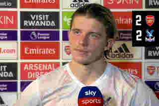 Conor Gallagher reacts to a point at the Emirates