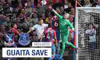 Guaita save   Crystal Palace 0-0 Everton