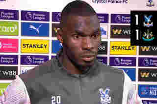 Goalscorer Benteke on the draw with the Magpies
