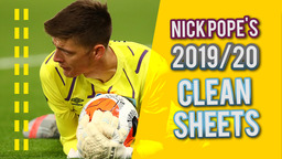 NICK POPE | TOP SAVES | EVERY CLEAN SHEET 2019/20