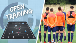 TRAINING   Clarets Prepare For Anfield Test