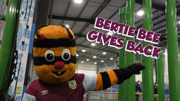BERTIE BEE GIVES BACK | CLARETS MASCOT BUZZING TO BE BACK